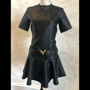 d633acc5e Louis Vuitton Dresses | Customized Made Lv 2 Piece Crop Top And Tube ...